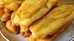 想吃油條不用買,1碗麵粉2個雞蛋,金黃酥脆又健康,超簡單