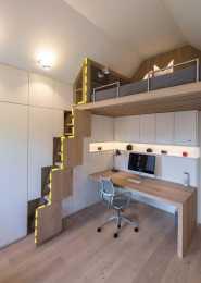 閣樓床還能這麼裝?梯子塞進櫃子裡,不佔地多收納,優點全佔了